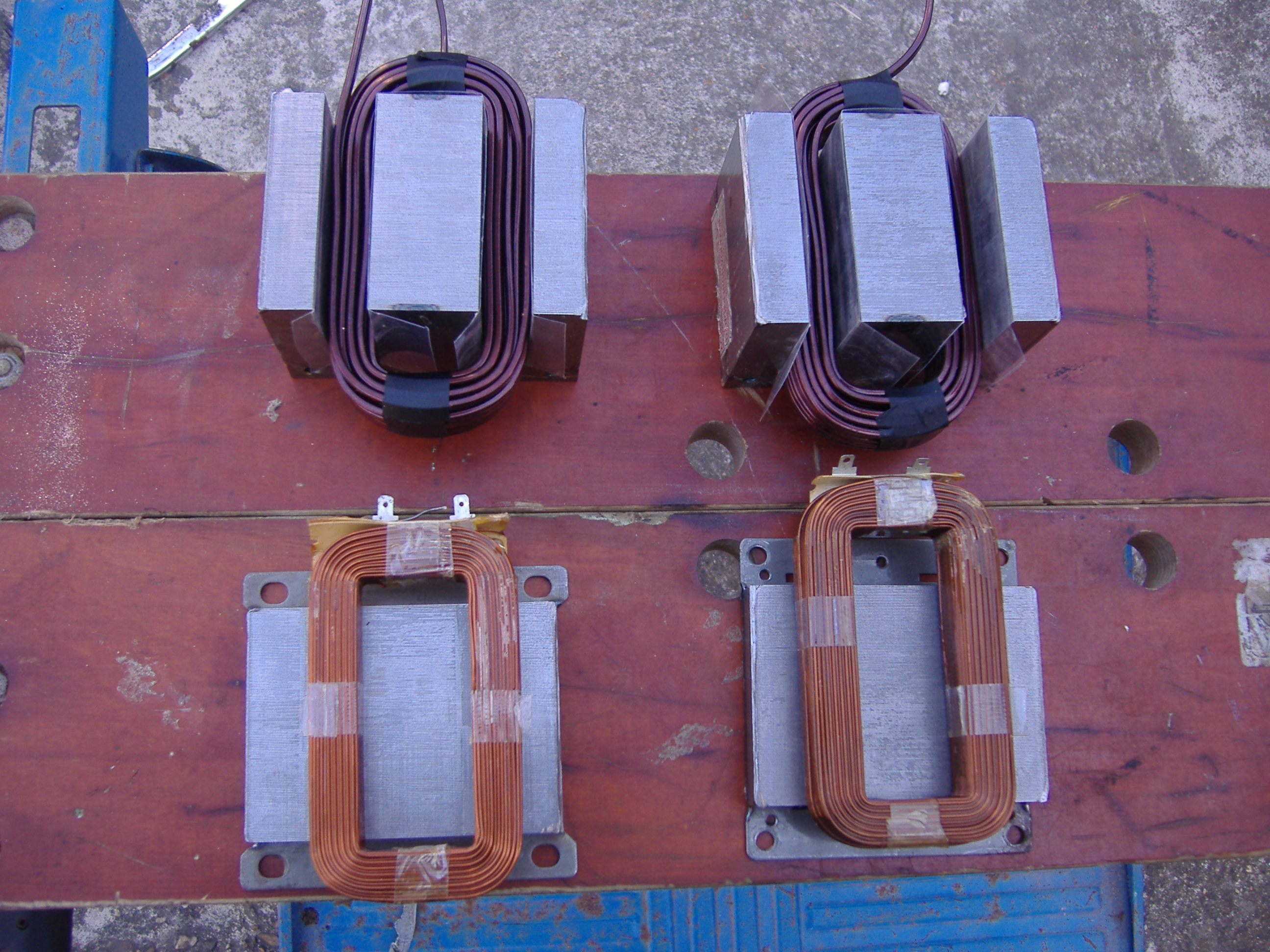 Building An Arc Welder From Microwave Oven Transformers Products Wiring Two In Series Just About To Be Assembled Cores Insulated With Ohp Transparency