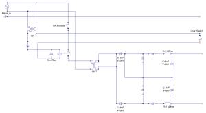 A circuit diagram including all the control circuitry, omitting the fan and indicator lamp