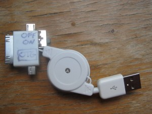 A multi USB cable with a switch added to enable OTG functionality