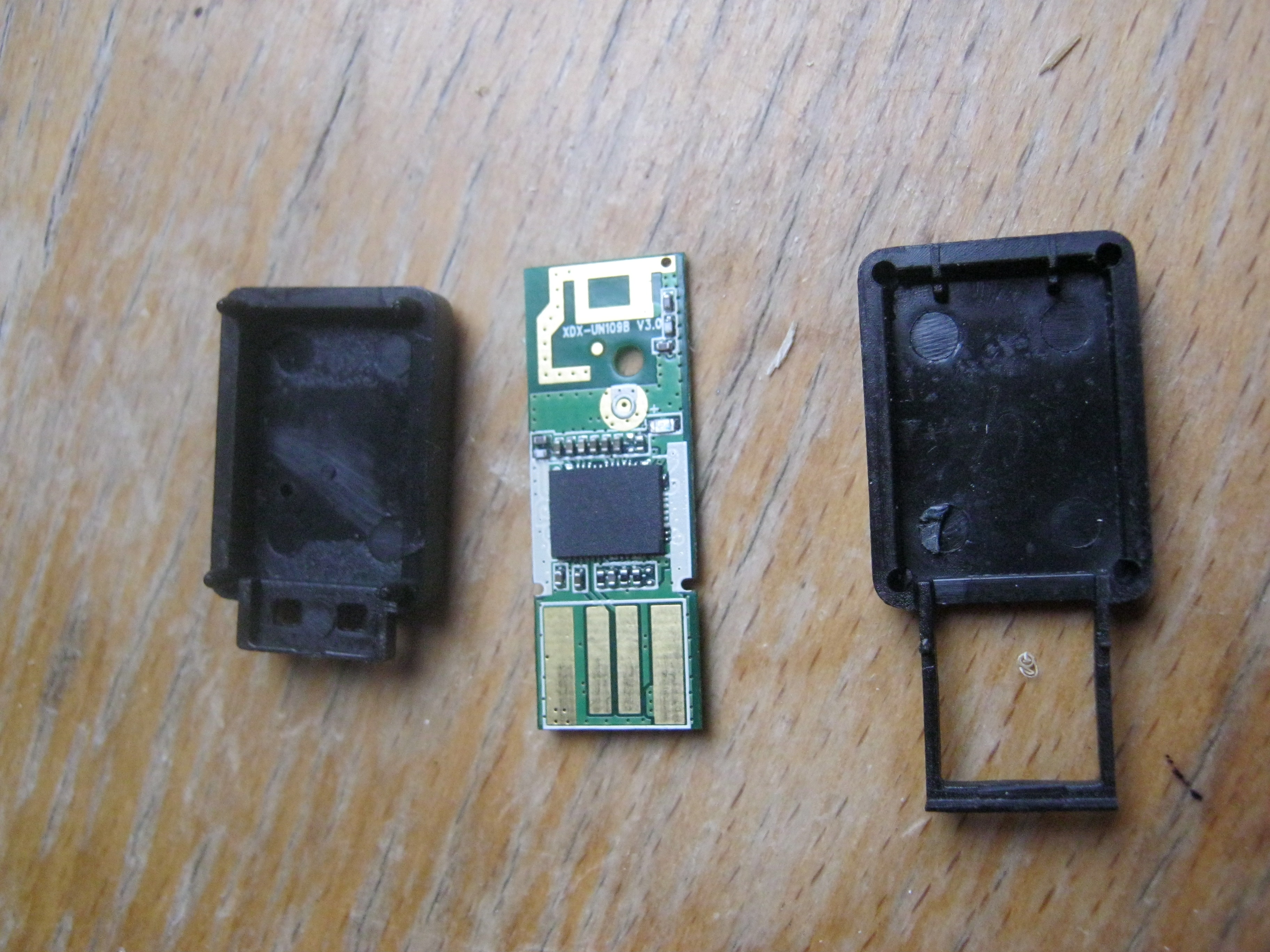 Adding Wi Fi To A Raspberry Pi Without Powered Hub Products Of In Circuitry The Two Case Sections And Circuit Board That Comprise Dongle